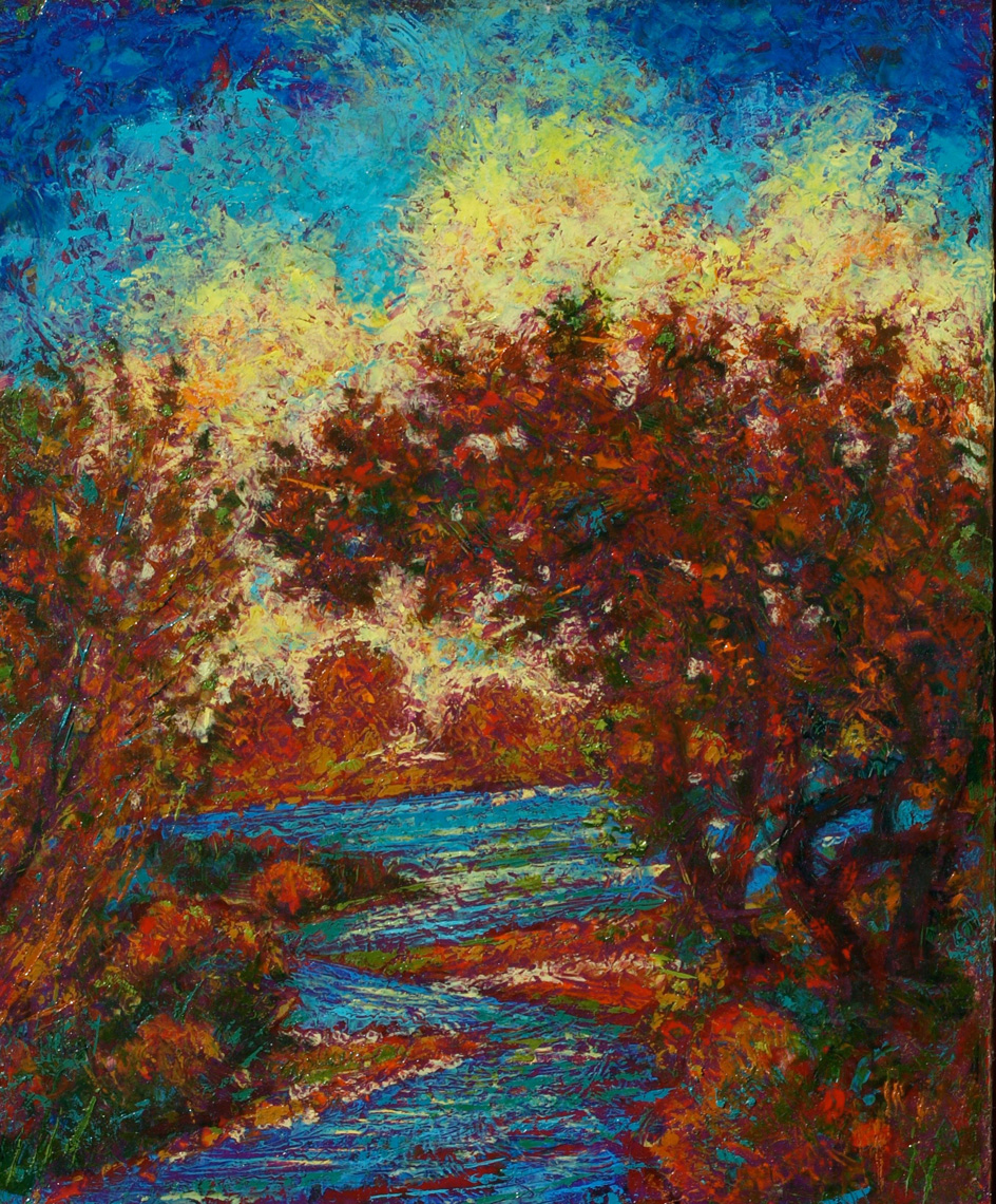 Autumn-Flames-oil-on-panel-13-x16-