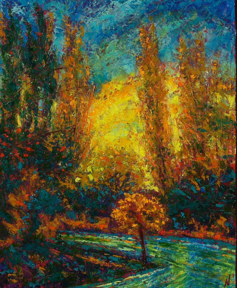 Dance-of-Autumn-Rio-Grande-oil-on-panel-13x16