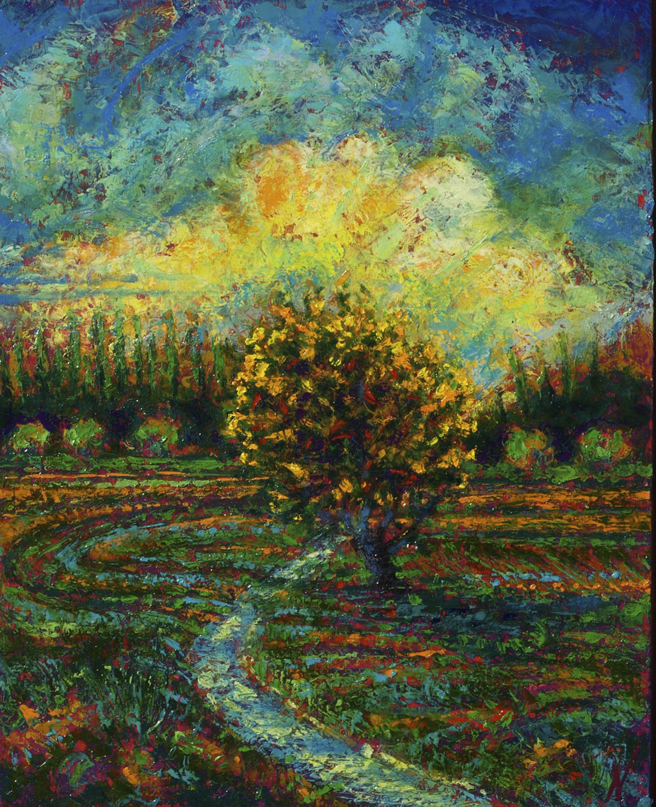 The-Apple-Tree-oil-on-panel-13-x-16